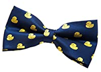 "Retreez Classic Rubber Duck Woven Pre-tied Bow Tie (5"") - Various Colors"