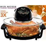 Big Boss Turkey Roaster 17.5-Quart 1300 Watt Hi-Speed-Low Energy Rapid Wave Oven, Oval