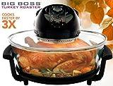 Big Boss Turkey Roaster 17.5-Quart 1300 Watt Hi-Speed-Low Energy Rapid Wave Oven, Oval