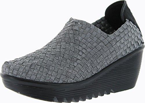Bernie Mev Womens Gem Sandal Pewter Size 38 front-256432