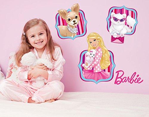 Klebefieber DS 1017-B Wandtattoo Barbie and Friends B x H: 120cm x 159cm (erhältlich in 10 Größen) günstig