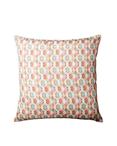 Nitin Goyal London Large Braid Silk Throw Pillow, Multi