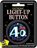 """AMSCAN Electronic Light-Up 2-1/2"""" Button: Over The Hill 40"""