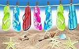 ShawsDirect Velour Beach Towel - Slipper Star - Free P&P