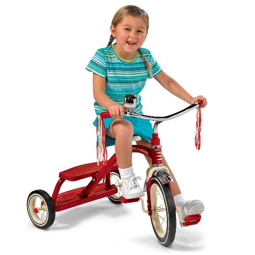 Radio Flyer Classic Red Dual Deck Tricycle 6