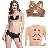 Women Stretchable Breast Push Up Brace Bra & Back Support, Posture Corrector, CorsetBelt (XL, Beige)