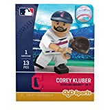 MLB Cleveland Indians Gen5 Limited Edition Corey Kluber Minifigure, Small, White