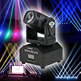 Lixada Mini Moving Head Sound Activated RGBW Stage Light master-slave auto running 11/13 channels Beam Light for party KTV club dj show (Color: Beam Light, Tamaño: 1pcs)