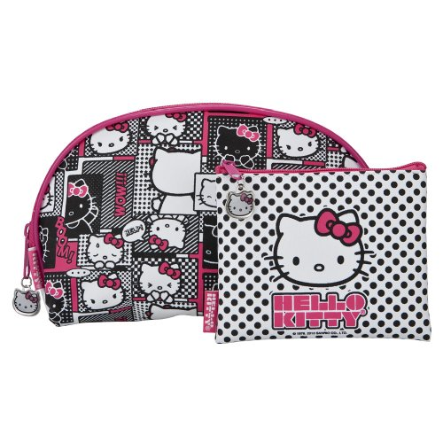 Hello Kitty Cosmetic Bag – Pink 2 Piece Set