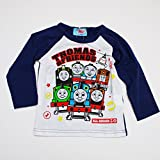 きかんしゃトーマス 長袖Tシャツ 100cm-120cm(643TM4011) (100cm, ネイビー)