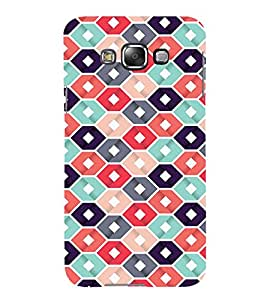 Abstract Hexagonal Design 3D Hard Polycarbonate Designer Back Case Cover for Samsung Galaxy E5 :: Samsung Galaxy E5 E500F (2015)
