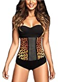 Waist Belt Shapewear For Women, Best waist Trainer Shaper Body Tummy Tucker Vest With 100% Latex 3-Hook and 9 Steel Bones, Hourglass Women's Corset Waist Cincher or Clincher (XX-Large, Yellow Leopard)
