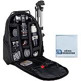Photographer's Digital Camera/Video Padded Backpack For Nikon D300 D300S D3000 D3100 D3200 D3300 D5000 D5100 D5200 D5300 D610 D600 D70 D700 D7000 D7100 D800 D800E D90 DF 1 J1 1 V1 & More... + Microfiber Cloth