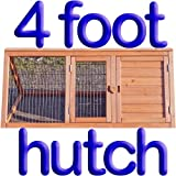 4ft Rabbit Hutch Run Guinea Hutches Chick Poultry Playpen Home Pet Tortoise Wood