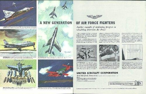 New Air Force Fighters United Aircraft ad 1954 F-102 F-86 F-100 F-84F F-89D