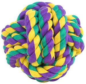 Multipet Nuts for Knots Ball Medium Dog Toy from Multipet