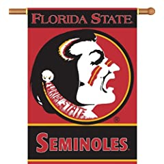 Buy NCAA Florida State Seminoles 2-Sided 28-by-40 inch House Banner with Pole Sleeve by BSI