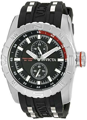 Invicta Men's 19675SYB Aviator Analog Display Japanese Quartz Black Watch