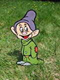 Lawn Art Figure Dopey From Snow White & The Seven Dwarfs Handcrafted & Painted With Great Detail Metal Stakes & Wall Mount Included