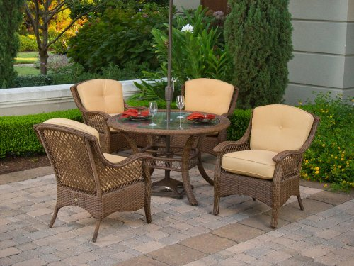 4pc veranda resin wicker outdoor dining set patio furniture great buy
