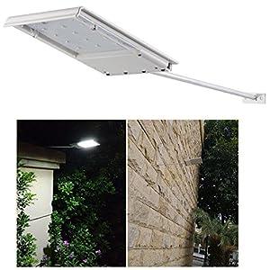 FAMI Waterproof Solar Powered LED Light Wall Light Security