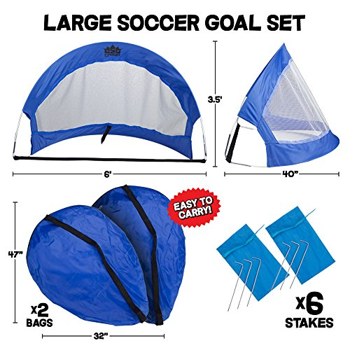 crown sporting goods pop up soccer goals with 2 carrying. Black Bedroom Furniture Sets. Home Design Ideas