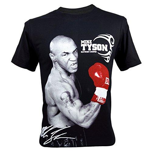 (イモータル)Immortal メンズ Mike Tyson Boxing Heavyweight Champion Tシャツ V3, XLサイズ ブラック