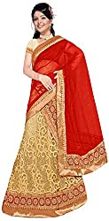 Jay Ambe Creation Women's Viscose Unstitched Lehenga Choli (dno126d, Red & Cr...