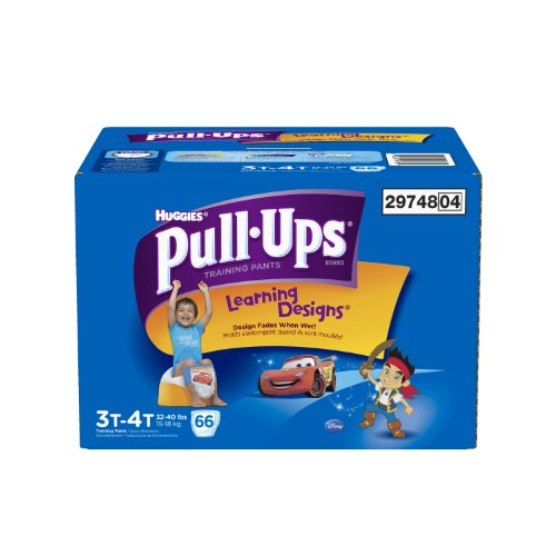 Huggies Pull-Ups Training Pants with Learning Designs for Boys, 3T-4T, 66 Count