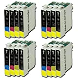T715 MULTIPACK X 4 - EPSON COMPATIBLE Ink Cartridges for Epson Stylus SX415 Printers - ALSO COMPATIBLE WITH D120, D78, D92, DX400, DX4000, DX4050, DX4400, DX4450, DX5000, DX5050, DX6000, DX6050, DX7000, DX7400, DX7450, DX8400, DX8450, DX 9400F, S20, S21,