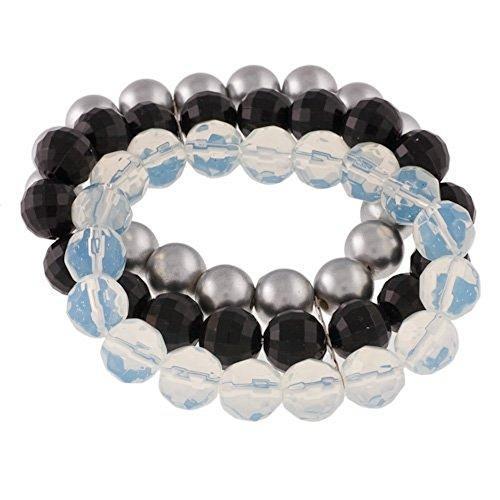 Fashion Damen Armband mit drei Perlenreihen