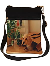 Snoogg Small Dog In A Bag Cross Body Tote Bag / Shoulder Sling Carry Bag