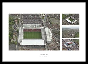 Liverpool Fc Anfield Stadium Aerial View Framed Photo