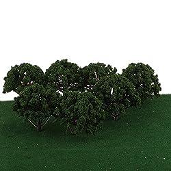 20pcs Plastic Model Tree for Train Railway Layout Scenery DIY 1:75 SA80-D006