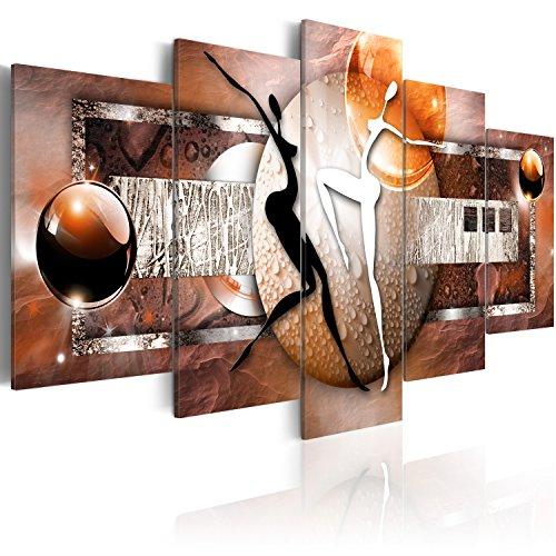Quadro 200x100 cm ! Tre colori da scegliere - 5 Parti - Grande Formato - Quadro su tela fliselina - Stampa in qualita fotografica - astrazione 020101-221 200x100 cm B&D XXL