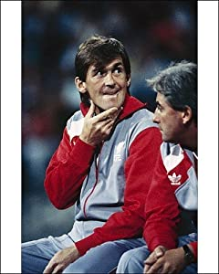 Photographic Prints of Kenny Dalglish in the dug out from Liverpool FC Pictures by Media Storehouse