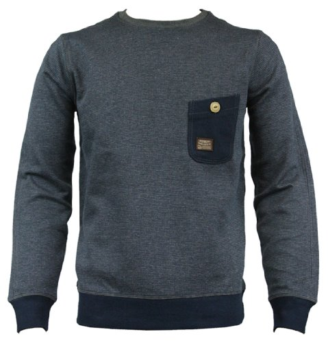 Duck and Cover 130118 Reilly Mens Sweat Jumper AW12 Blue/Black XXL