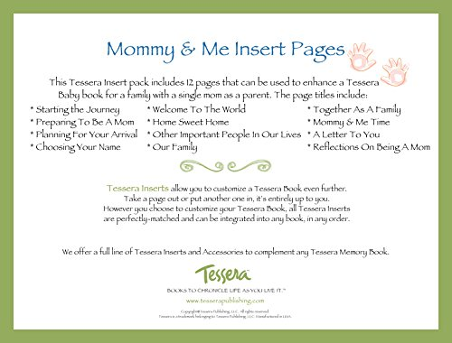 Tessera Baby Books Baby Memory Book Insert Pack, Mommy and Me - 1