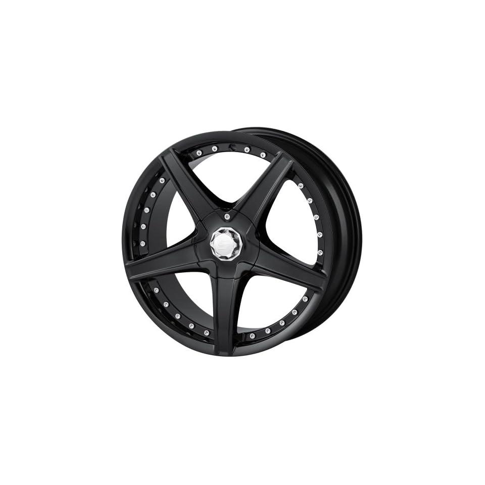 17x7 Sacchi S45 (245) (Black) Wheels/Rims 4x100/114.3 (245 7701B) Automotive