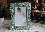 """Shabby Chic, stile Vintage, in stile filigrana, Cornice per foto in metallo, colore: nero, Verde, 10""""*8"""""""