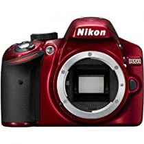 Nikon D3200 24.2 MP Digital SLR Camera International Model No Warranty (Body Only) (Red)