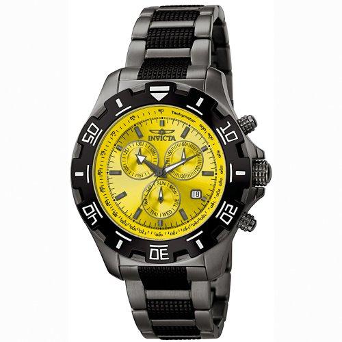 495e1bd78 Invicta Men s 6410 Python Collection Chronograph Gun Metal Stainless Steel  Watch