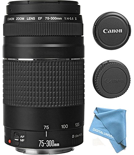Canon-EF-75-300mm-f4-56-III-Zoom-Lens-for-Canon-EOS-7D-60D-EOS-Rebel-SL1-T1i-T2i-T3-T3i-T4i-T5i-XS-XSi-XT-XTi-Digital-SLR-Cameras-Micro-Fiber-Cleaning-Cloth