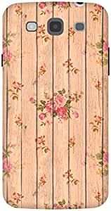 The Racoon Lean Beige Flower Wood hard plastic printed back case / cover for Samsung Galaxy Mega 5.8