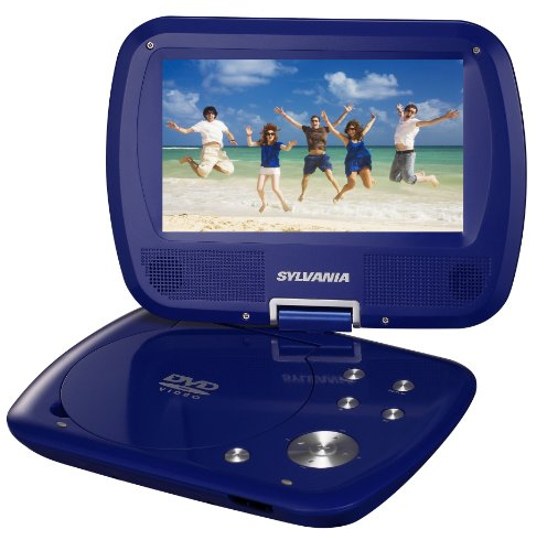 Curtis SDVD7037-BLUE Sylvania 7-Inch Portable DVD Player with Swivel Screen (Blue)