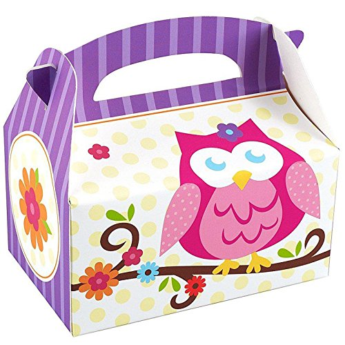 Owl Blossom Empty Favor Boxes (4) Party Supplies