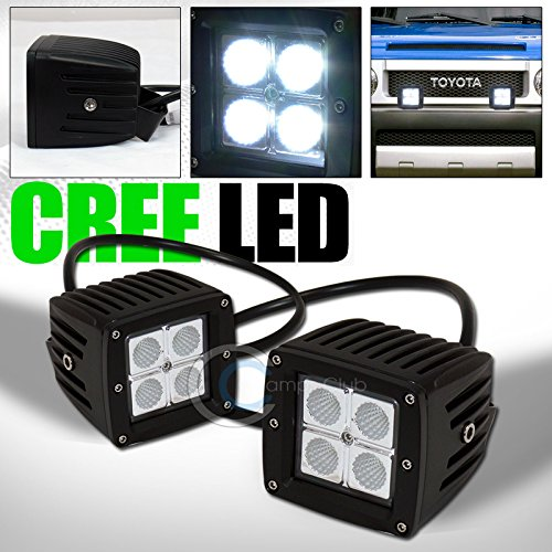 2P 12W CREE LED LIGHT BAR SPOT BEAM OFFROAD BULL GUARD ROOF BUMPER MOUNT KIT C1 (2005 Ford Explorer Bull Bar compare prices)