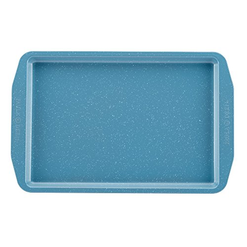 """Paula Deen Nonstick Bakeware Cookie Pan, 11"""" x 17"""", Gulf Blue Speckle"""