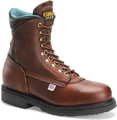 Carolina Men'S Steel Shank Wp Work Amber Leather Boot 16 Ee Us