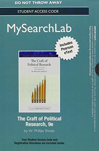The Craft of Political Research Mysearchlab With Pearson Etext Standalone Access Card